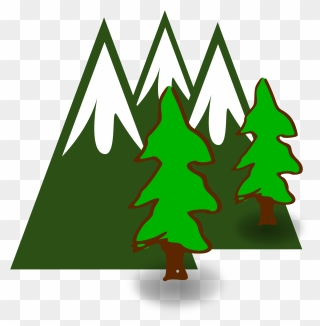 Free Png Mountain And Tree Clip Art Download Pinclipart