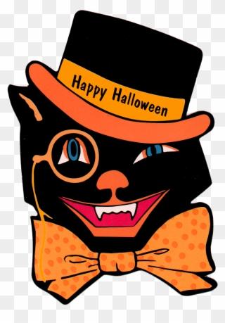 Retro Vintage Halloween Clip Art.Free Png Retro Halloween Clip Art Download Pinclipart