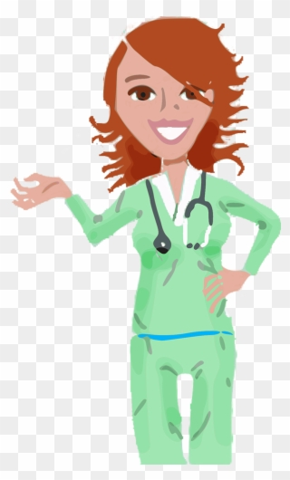 Nurse At Computer Clipart Medical Assistants In Cartoon Png Download 8014 Pinclipart