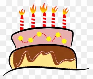 Happy Birthday Cake Clip Art Vector Png And Gif Kue Ulang