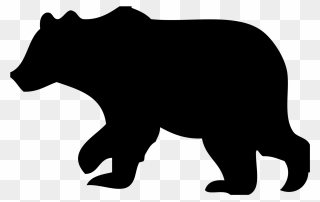 Bear outline. Free png clipart clip