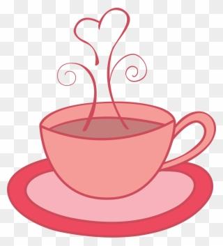 Tea Set Clipart Transparent - Tea Cup Cliparts Pink - Png ...