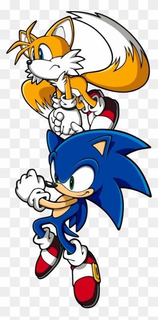 Sonic The Hedgehog And Miles Tails Prower Clipart Full Size Clipart 1032133 Pinclipart