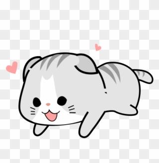 Sticker Kawaii Cute Pink Soft Cat Kawaii Cute Cats Png Clipart 1141439 Pinclipart