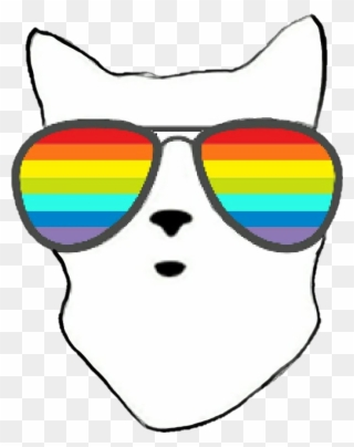 d9dc070cb1 Clipart Rainbow Sunglasses - Sunglasses - Png Download