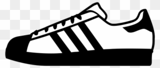 Adidas Shoes Clipart Black And White , Adidas Shoes Clipart