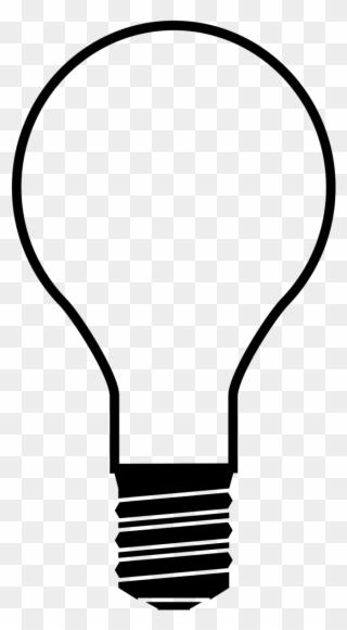 6e52c6abb1b File - Light Bulb-silhouette - Svg - Wikimedia Commons - Lightbulb  Silhouette Clipart