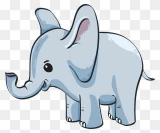 Cute Baby Elephant Gambar Anak Gajah Kartun Clipart Full Size