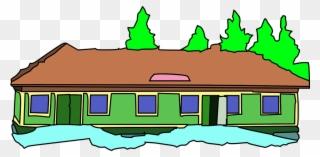 Collection Of Cartoon School House Gambar Animasi Bangunan Sekolah Clipart Full Size Clipart 1318368 Pinclipart