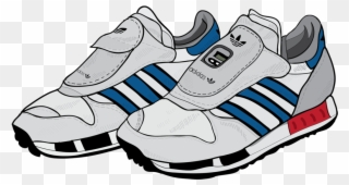 5ab247bcc Running Shoe Clipart - Transparent Adidas Cartoon Shoes - Png Download