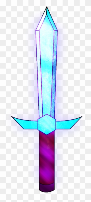 Minecraft Enchanted Diamond Sword Clipart 1453598 Pinclipart