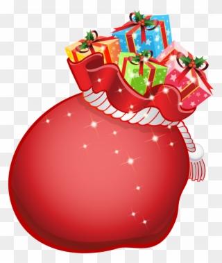 471cd07e3e13b Christmas Santa Bags - Santa Bag Clipart Transparent - Png Download