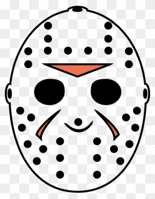 Jason Voorhees Left Breast Halloween Friday The 13th Jason Mask Full Print Clipart 1456873 Pinclipart