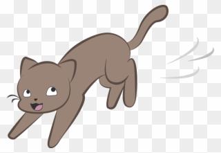 Scaredy Cat Clipart Cartoon Running Away By Polkan - Bad ... (320 x 221 Pixel)