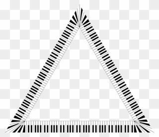 Triangle fancy. Piano musical keyboard computer