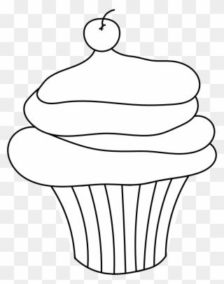 Cupcake Free Digital Stamp