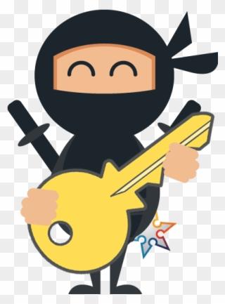 Premium Vector | Ninja boy petrified curse.
