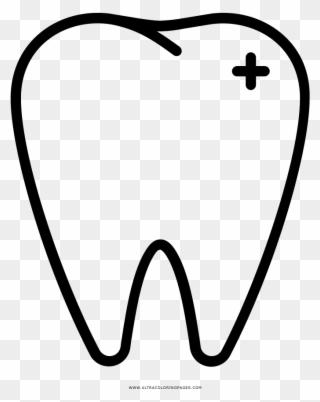 Dentes Desenho Para Colorir Desenho De Dente Em Png Clipart