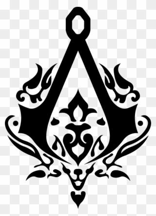 Batman Stencils Assassin S Creed Symbol Clipart 417818 Pinclipart