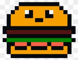 Kawaii Burger Pixel Art Maker - Pixel Hamburger Clipart