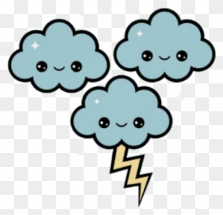 Thunder Clipart Cute - Kawaii Storm - Png Download (#1587726
