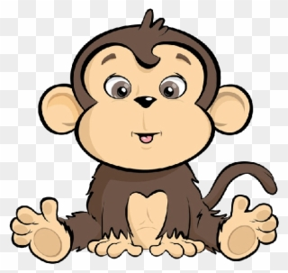 Banner Free Library Ape Clipart Cute Monkey Cartoon Png Download 160125 Pinclipart