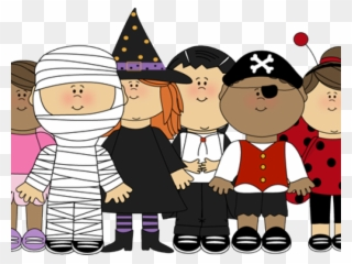 Kids doing trick or treat on halloween Royalty Free Vector