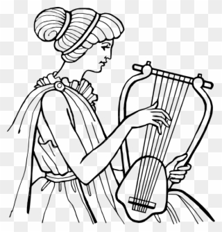 Free Vector Lyre Musical Instrument Clip Art - Ancient Greek Music