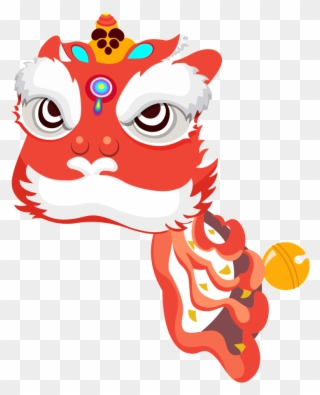 Dragon Dance Lion Dance Chinese New Year Cartoon Illustration Lion Dance Clipart Free Png Download 260029 Pinclipart