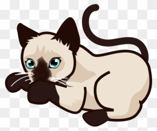 Image result for siamese cat clipart