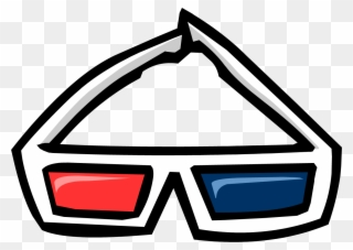 e3d5fff5733 Goggles Clipart Club Penguin - Old 3d Glasses Png Transparent Png