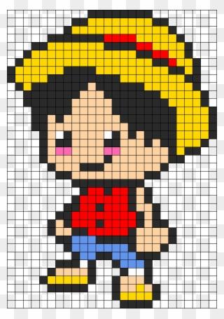 Kandi Patterns For Kandi Cuffs Pixel Art One Piece Luffy Clipart 1720739 Pinclipart