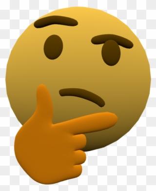 Thinking Emoji But 3d - 3d Thinking Emoji Gif Clipart (#1728835