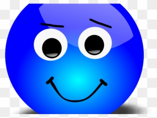 Blue Happy Face