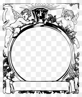 Big Image Bingkai Bulat Hitam Putih Png Clipart 1794176 Pinclipart