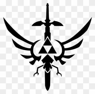 Zelda Clipart Stencils Zelda Master Sword Black And White Png Download Full Size Clipart 3540533 Pinclipart