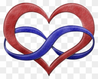 e45486bf9b935 Clip Art Poly Symbol - Infinity Heart Polyamory - Png Download · Clipart