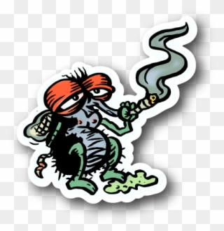 Fly Smoking Weed Sticker Fly Smoking Clipart 189583 Pinclipart