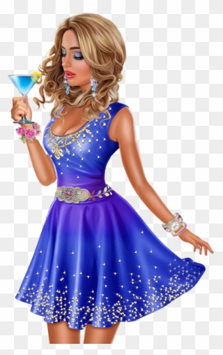 Clip Art Purple Cocktail Dress
