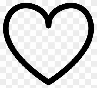 Heart Outline Clip Art - Black And White Heart Shape - Png