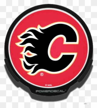 Calgary Flames Power Decal Calgary Flames Clipart 1859205 Pinclipart