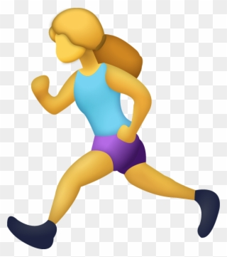Download Woman Running Iphone Emoji Icon In Jpg And Runner