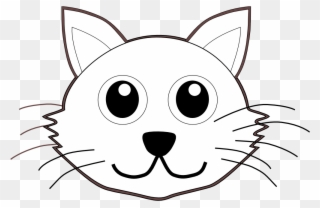 Draw A Cartoon Cat Cat Face Clipart Black And White Png