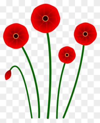 Poppy Clipart 4 Flower Cartoon Poppy Flower Png Download