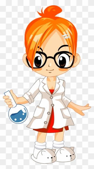 Cientistas Girls With Glasses Clipart Cartoon Characters Lab