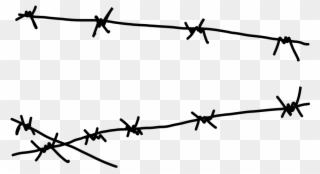 Download Barbwire Clipart Png Photo - Draw Easy Barbed Wire