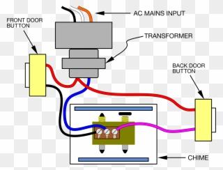 wiring a doorbell push image royalty free - schematic doorbell wiring  diagram clipart