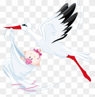 Stork is Delivering a Baby clipart. Free download transparent .PNG    Creazilla