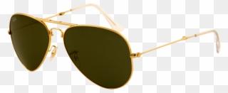 dbec33c04ef Ray Ban Aviator Small Green Classic G-15 - Aviator Sunglasses Clipart