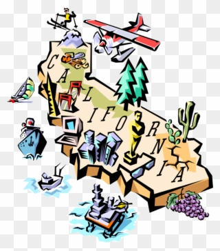 California map. Free png of clip